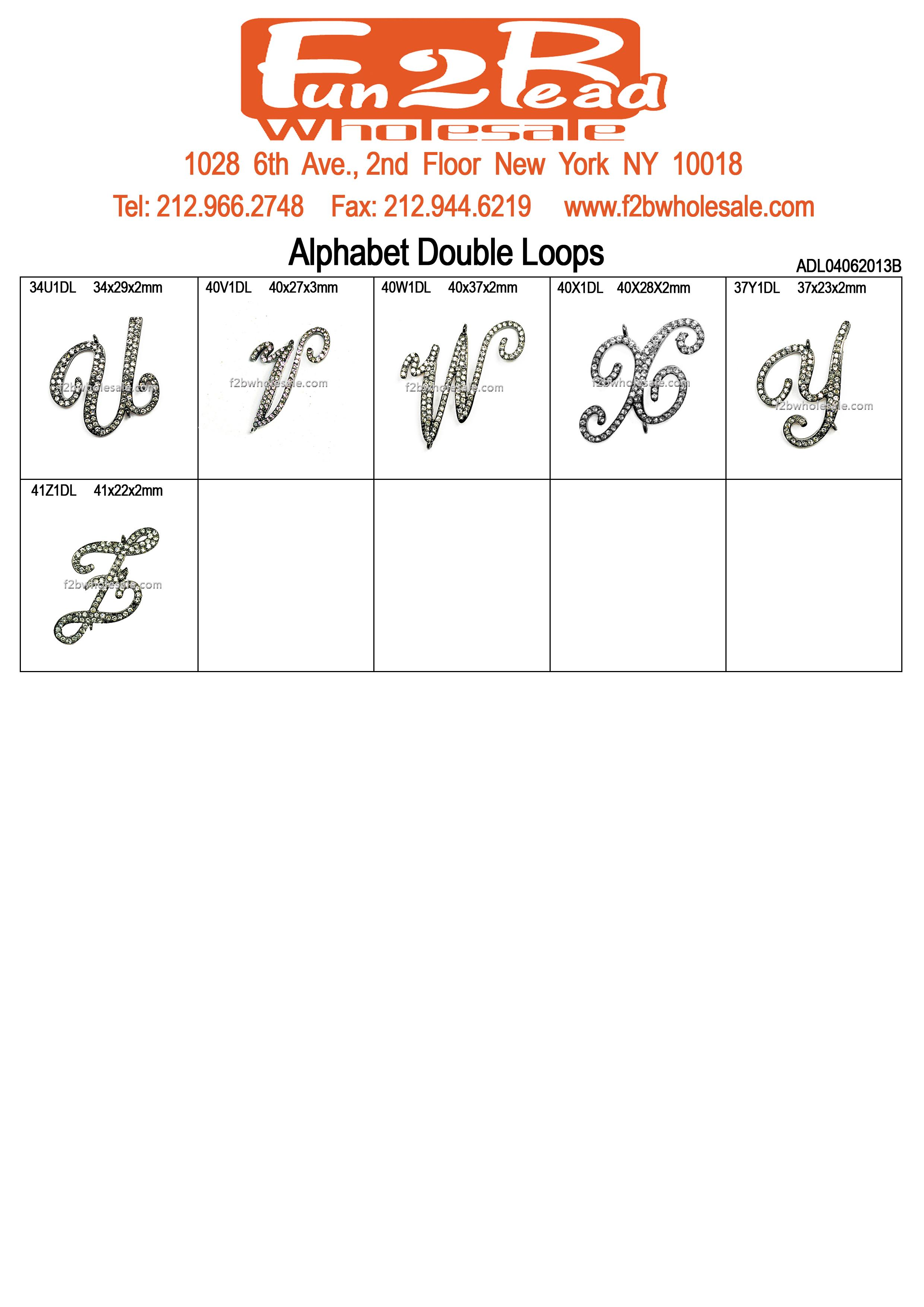 Alphabet Double Loops